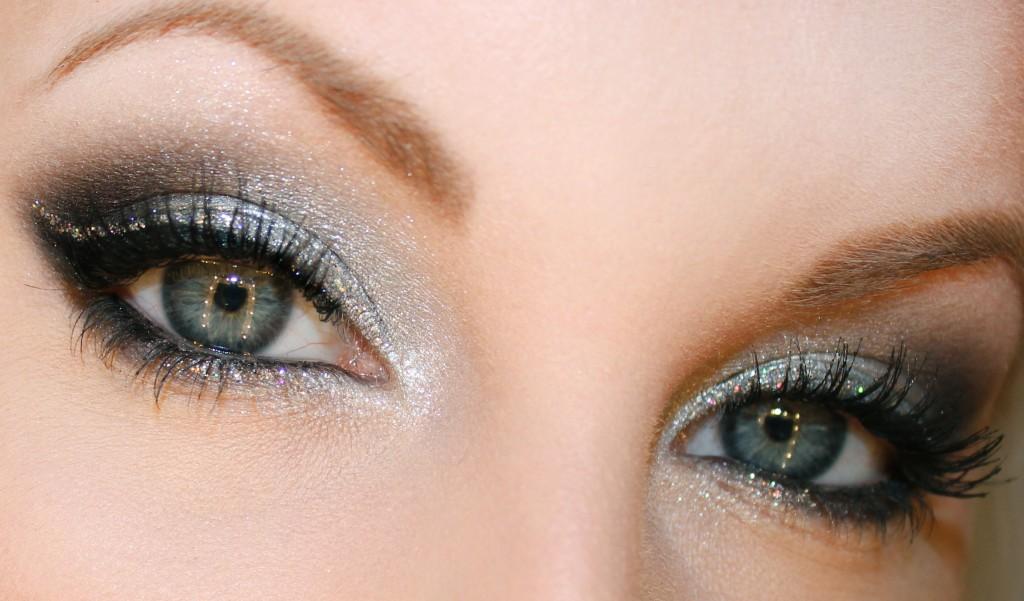 silver glitter ögonskugga