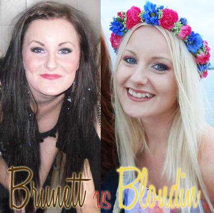 brunett vs blondin
