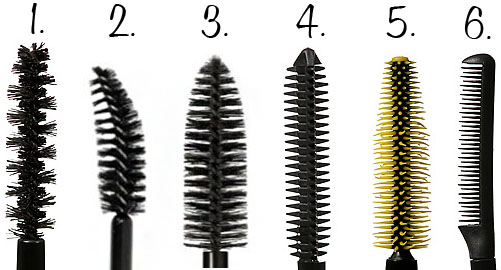 different mascara brushes