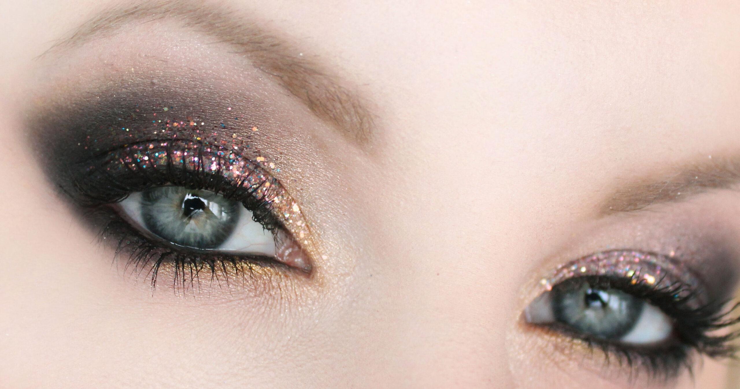 löst glitter ögon
