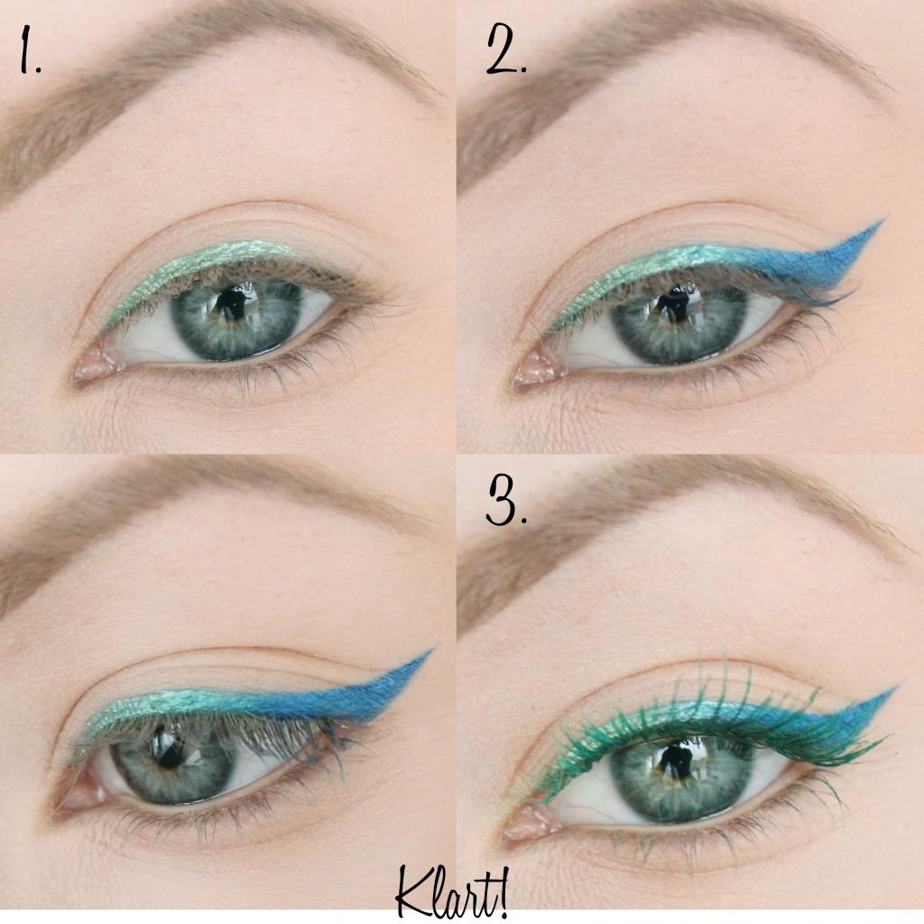 färgglad ombre eyeliner steg för steg