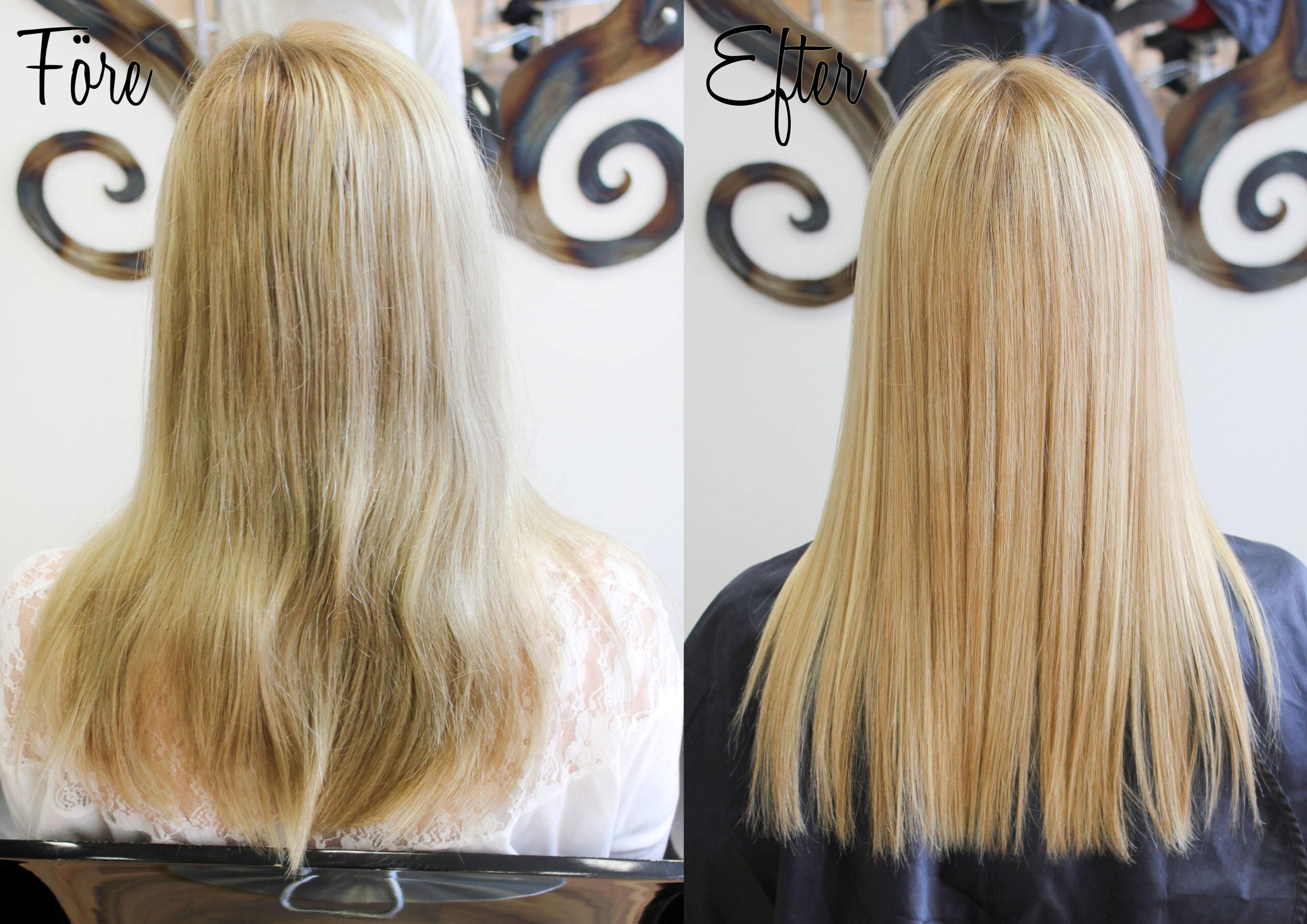 arganolja hår före efter