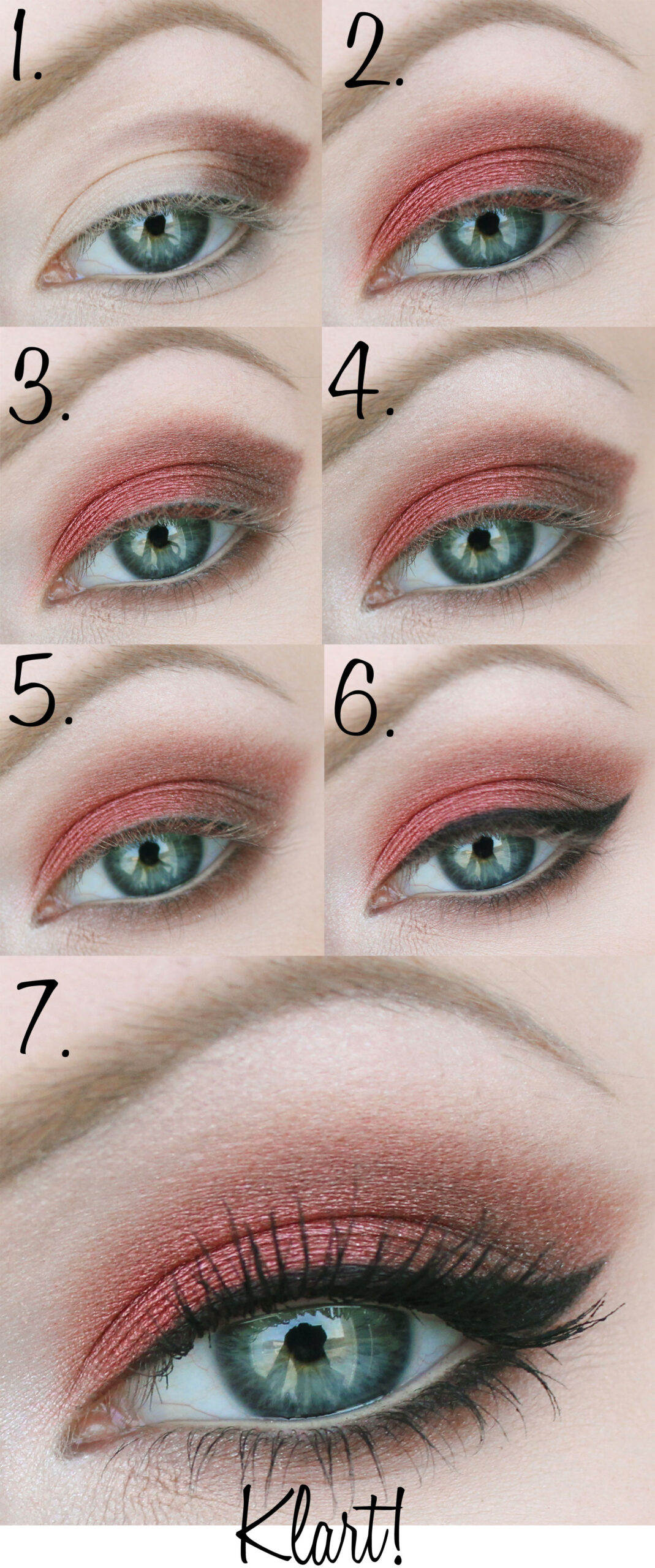 brun röd ögonskugga