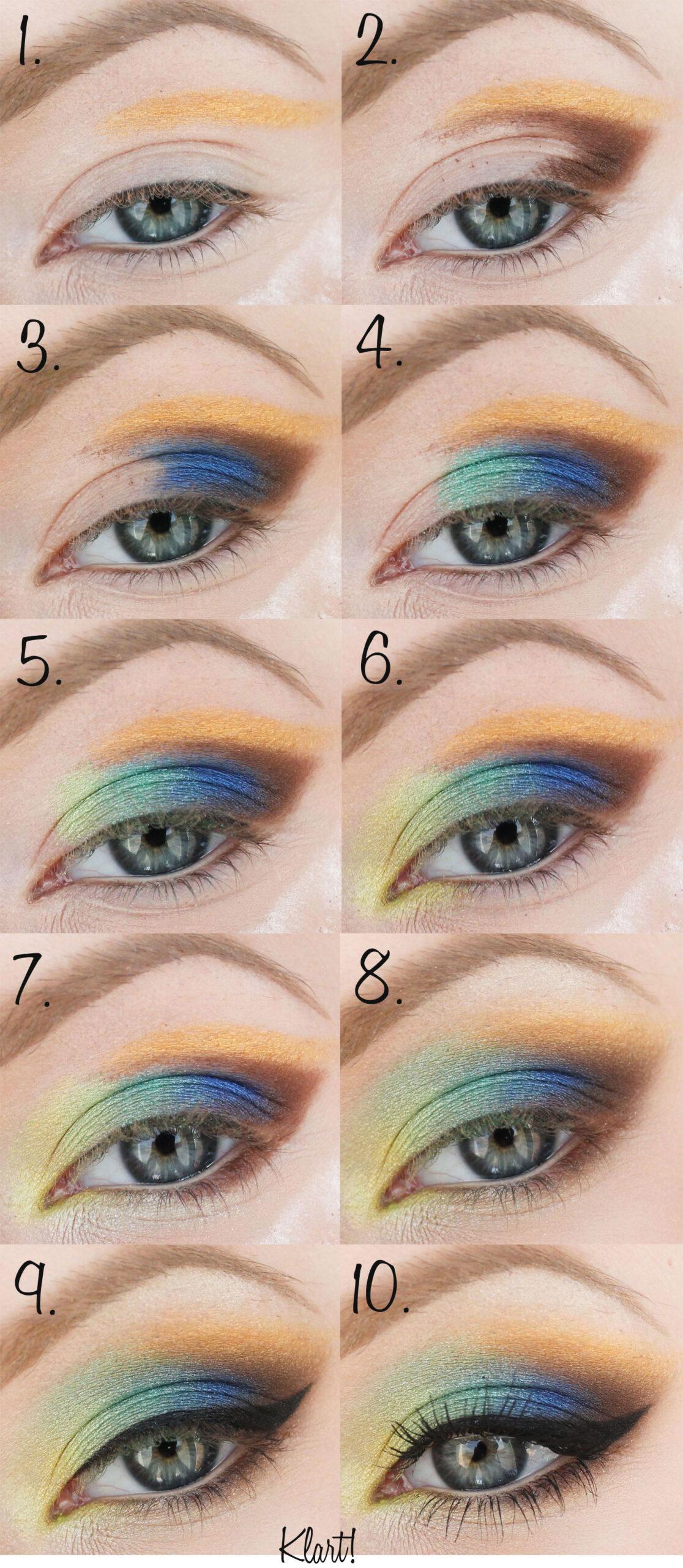 maquillaje colorido de verano