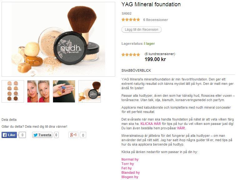 yag mineral foundation