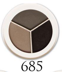 svart grå tre palett