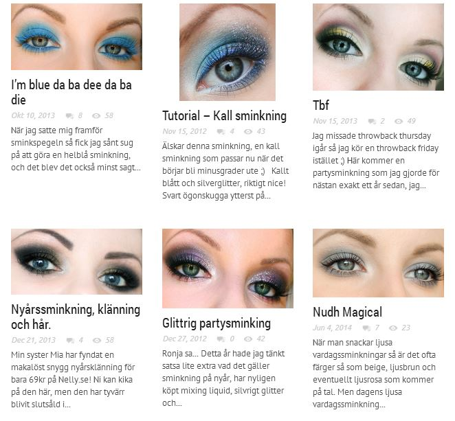 scroll through the make-up