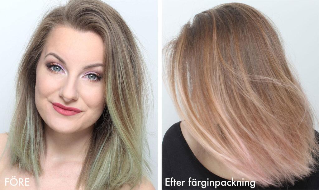 få bort grönt hår