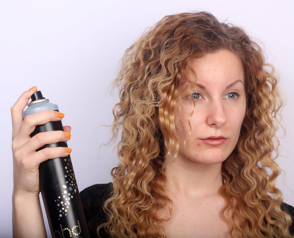 hair spray curls