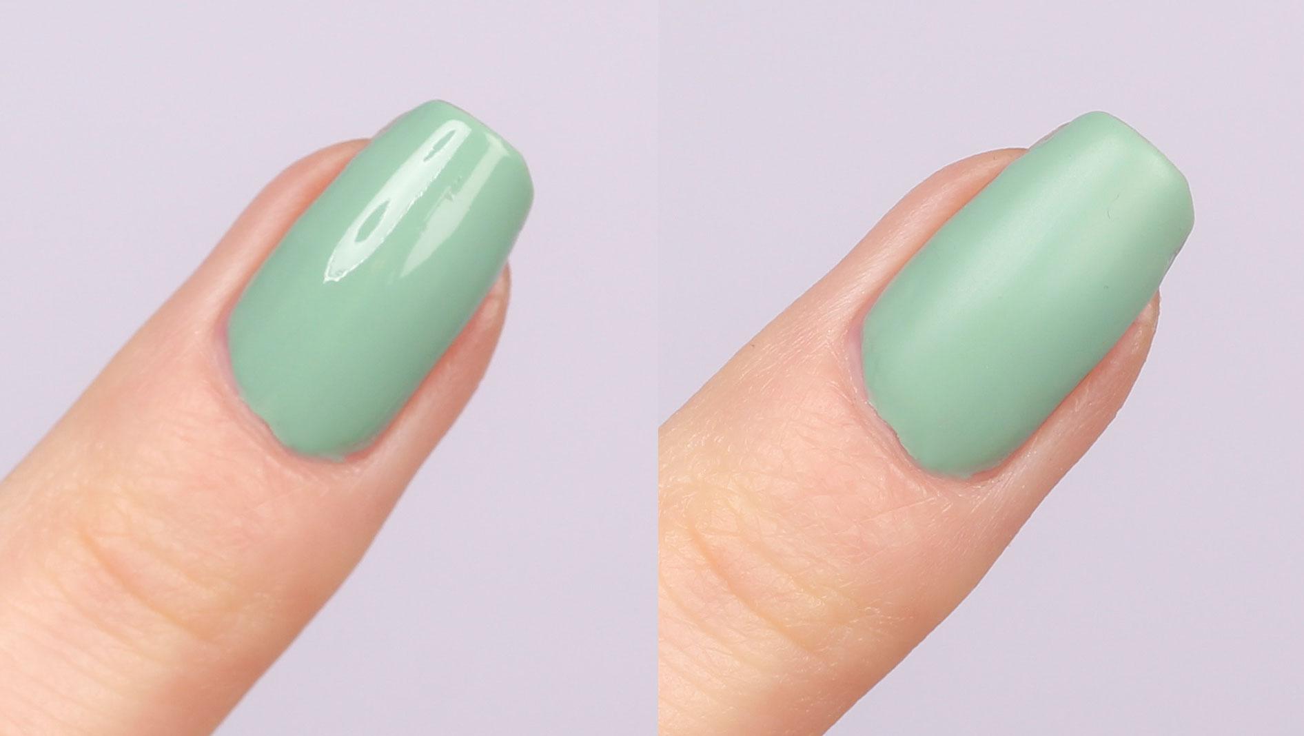 uñas verde menta