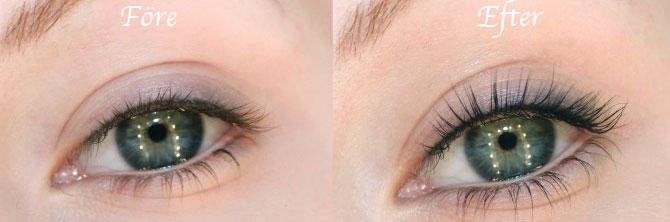 färga ögonfransarna på salong