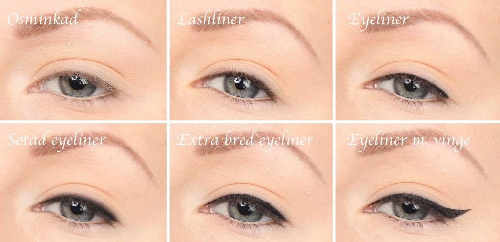 Olika eyeliners och ögonformer