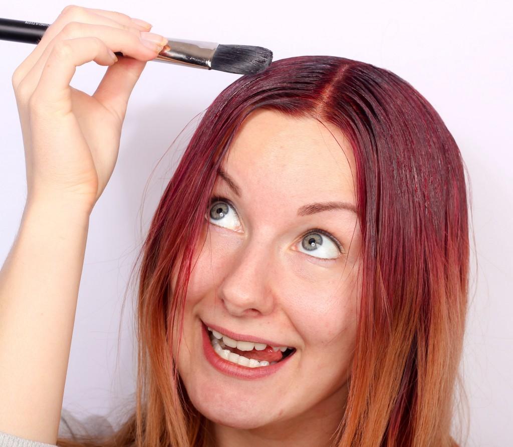 bomba de color para el cabello