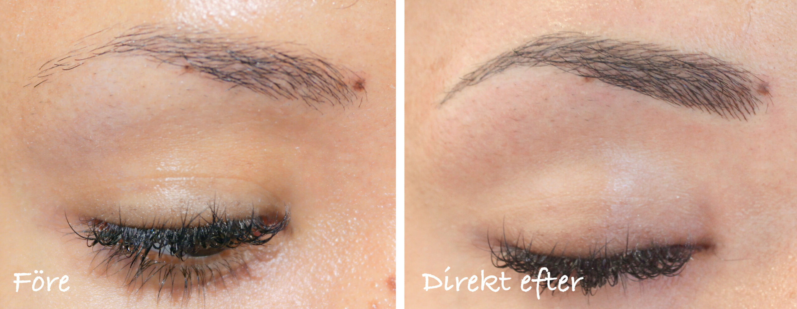 before-after-eyebrow tattoo-brunette