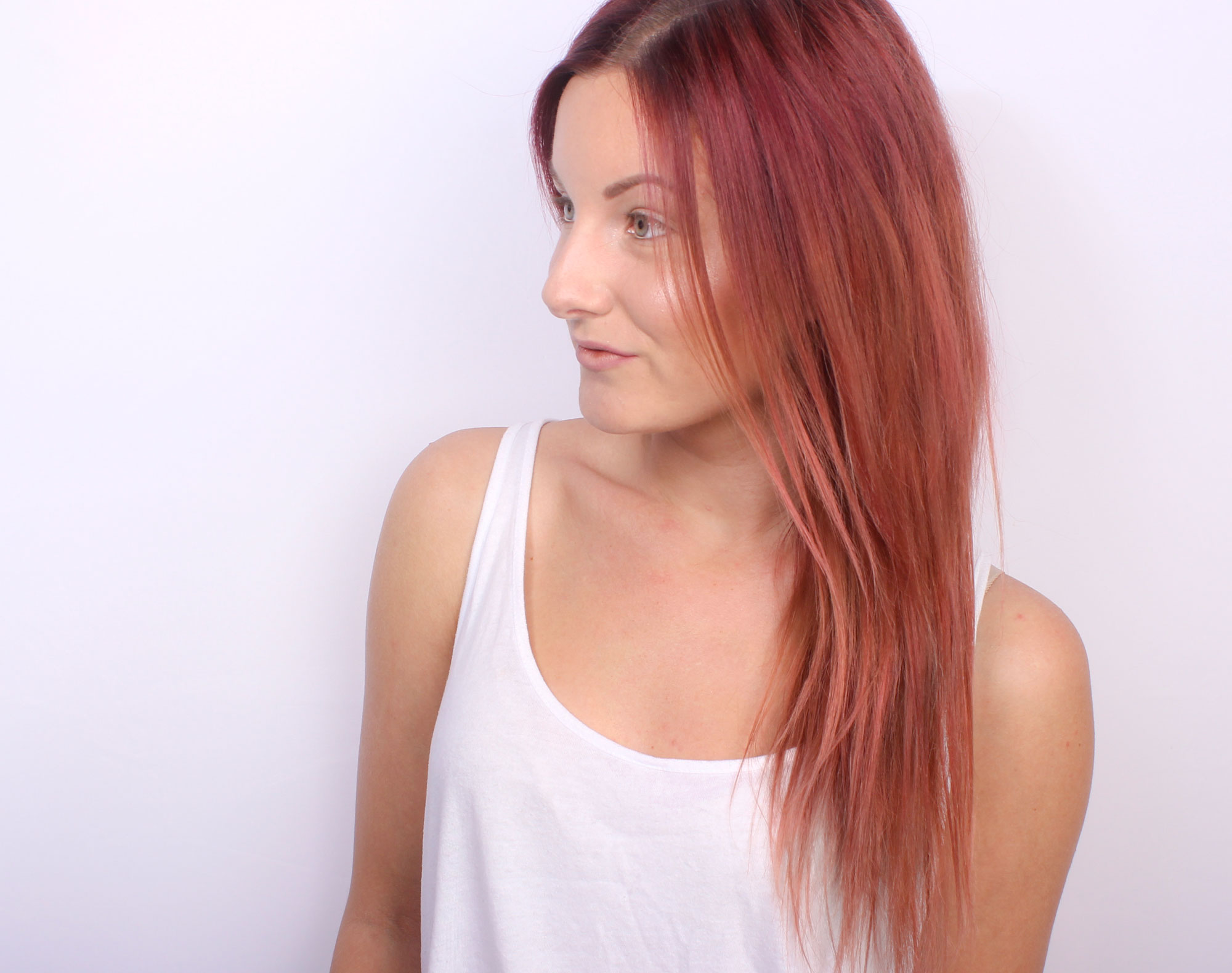 hair color copper gold, rose gold, dusty rose