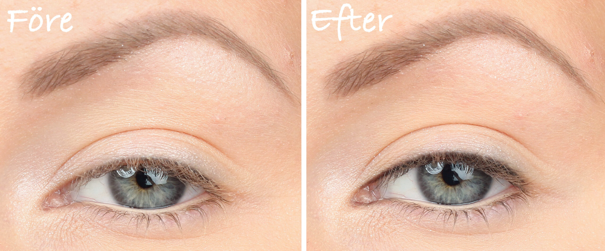 French marking / Lashliner before and after