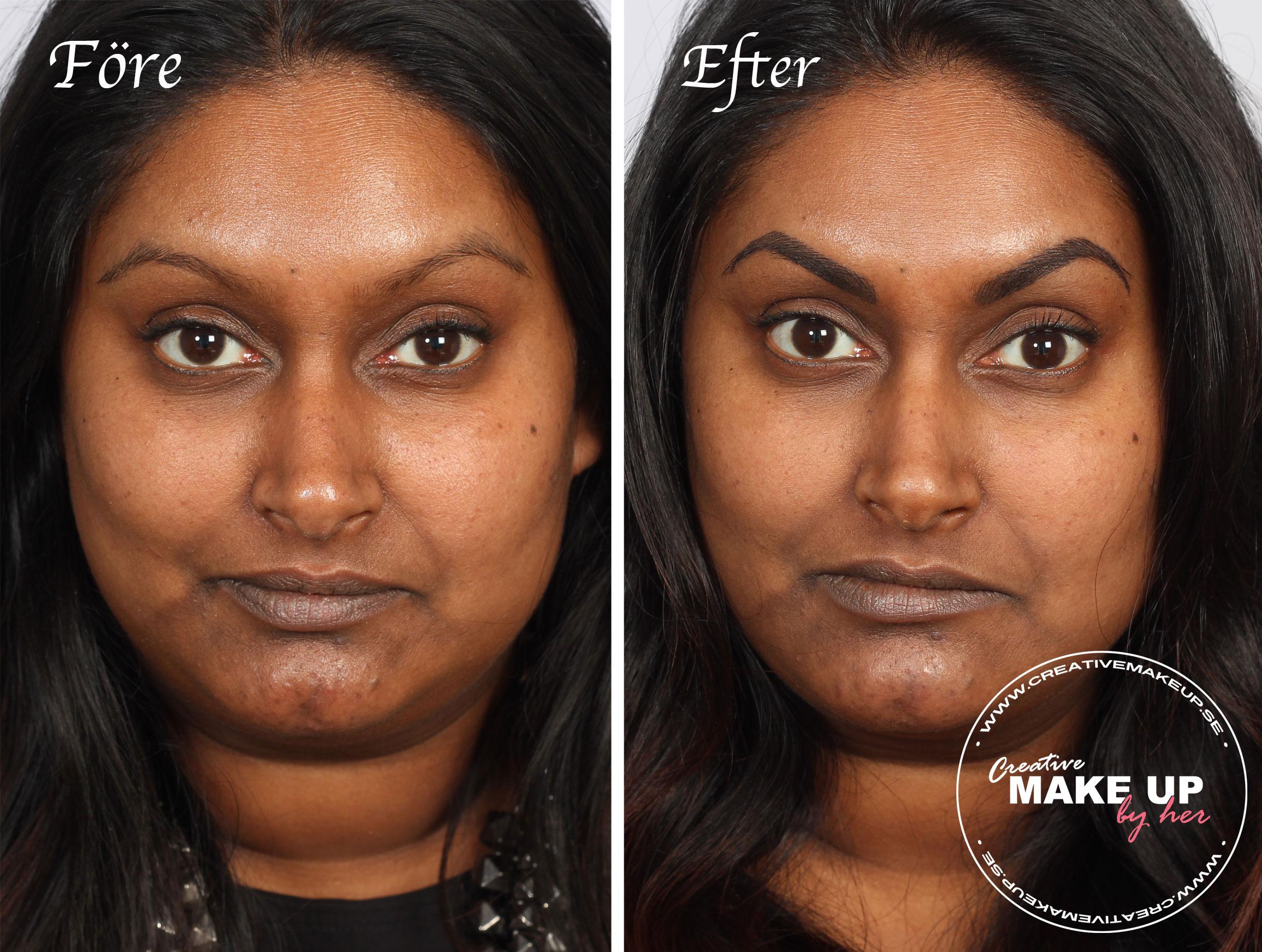 före-efter-ögonbrynstatuering