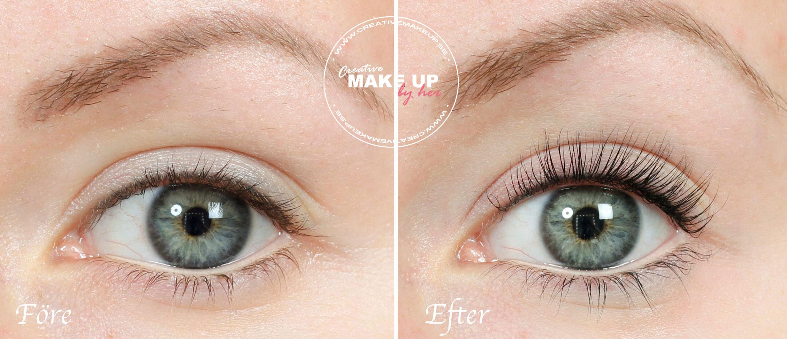 permanent böja ögonfransarna