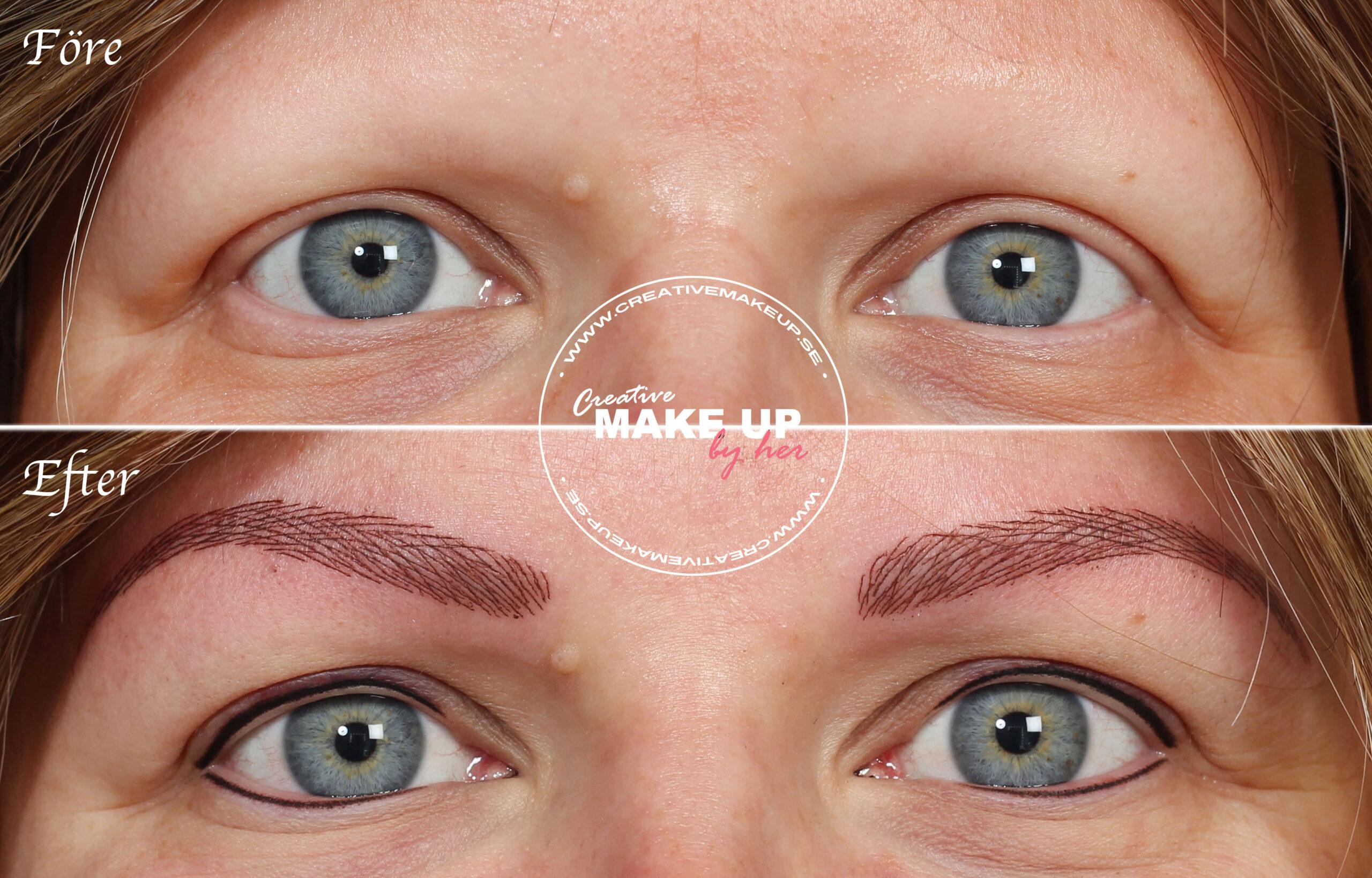 Tappar ögonbryn hår