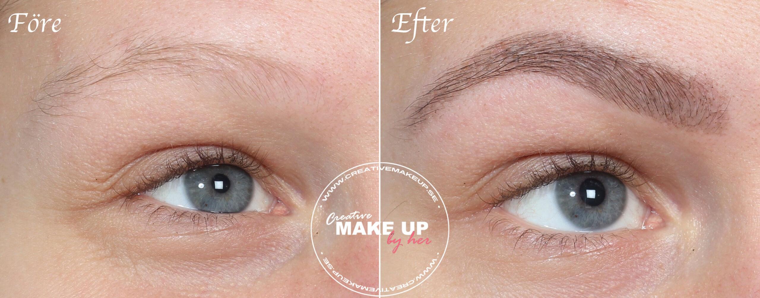 färga och forma ögonbryn
