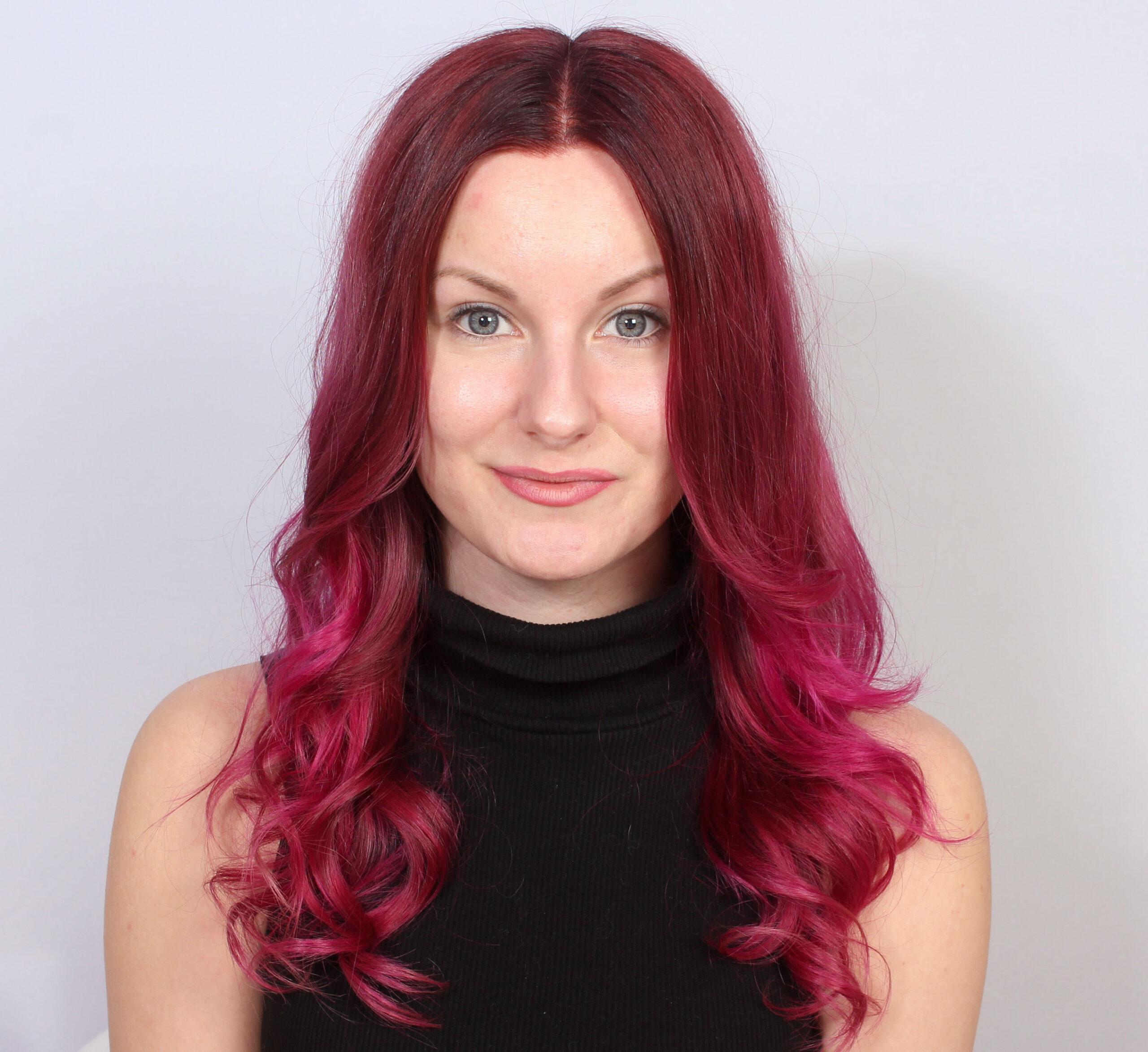 rosa färg till håret