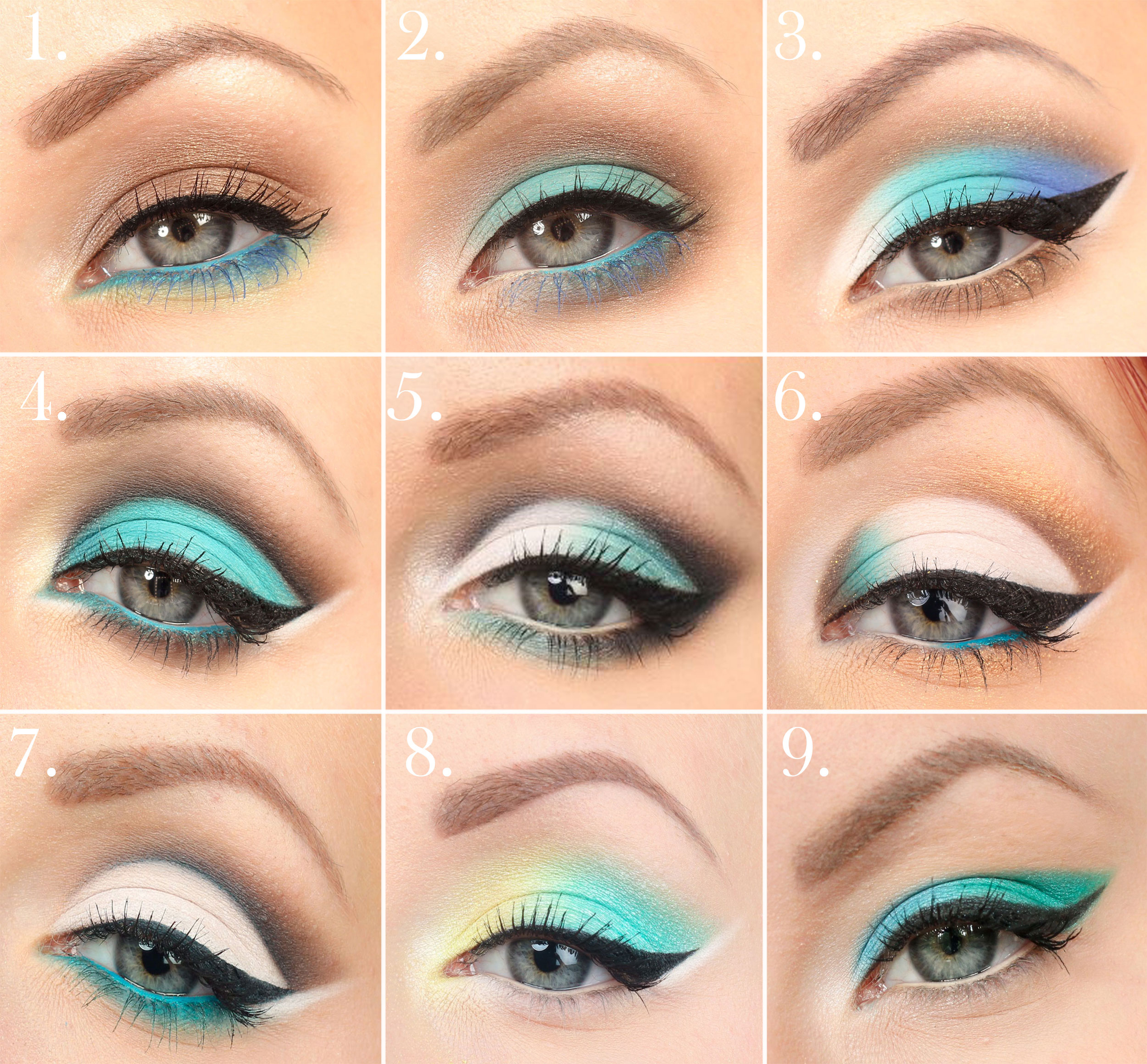 turquoise collage