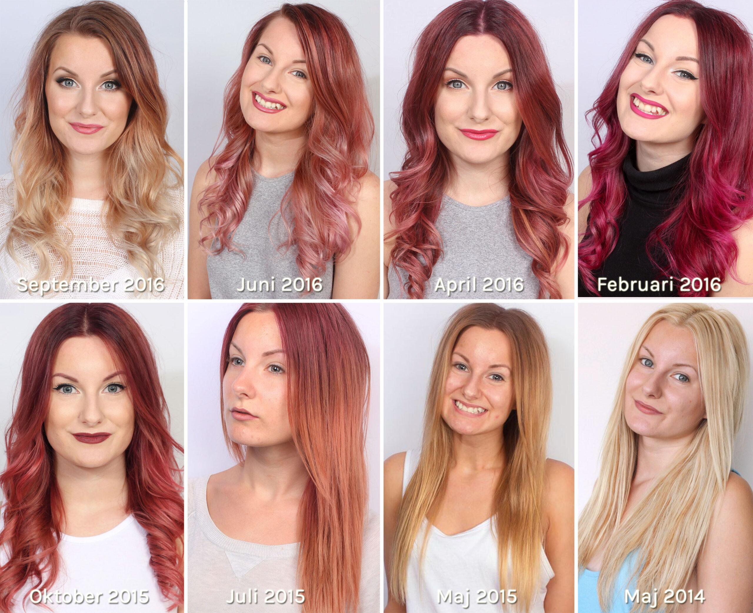 blond röd hårfärg