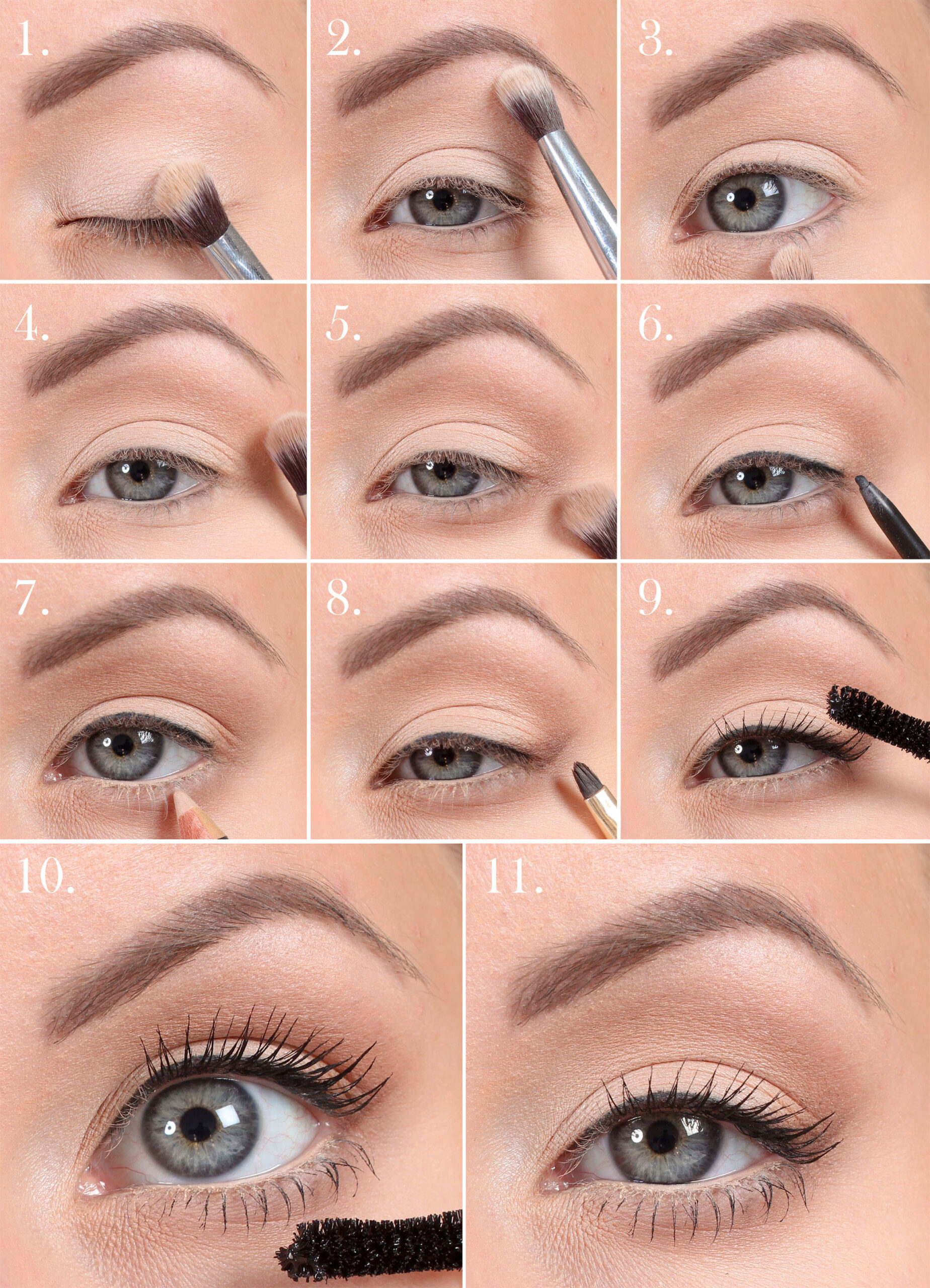 Make up the eyes bigger - Step by step