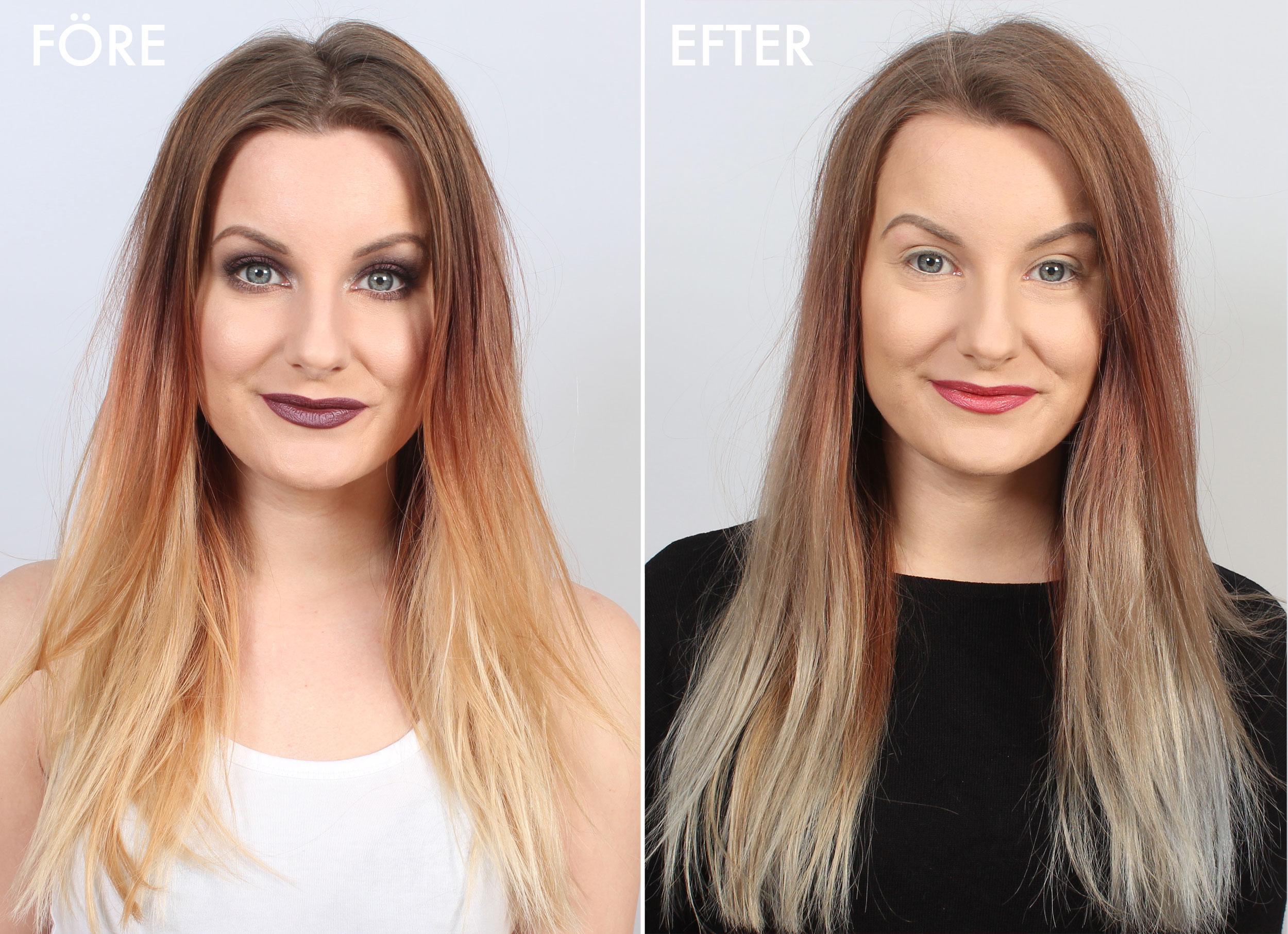 bleka håret med silverschampo
