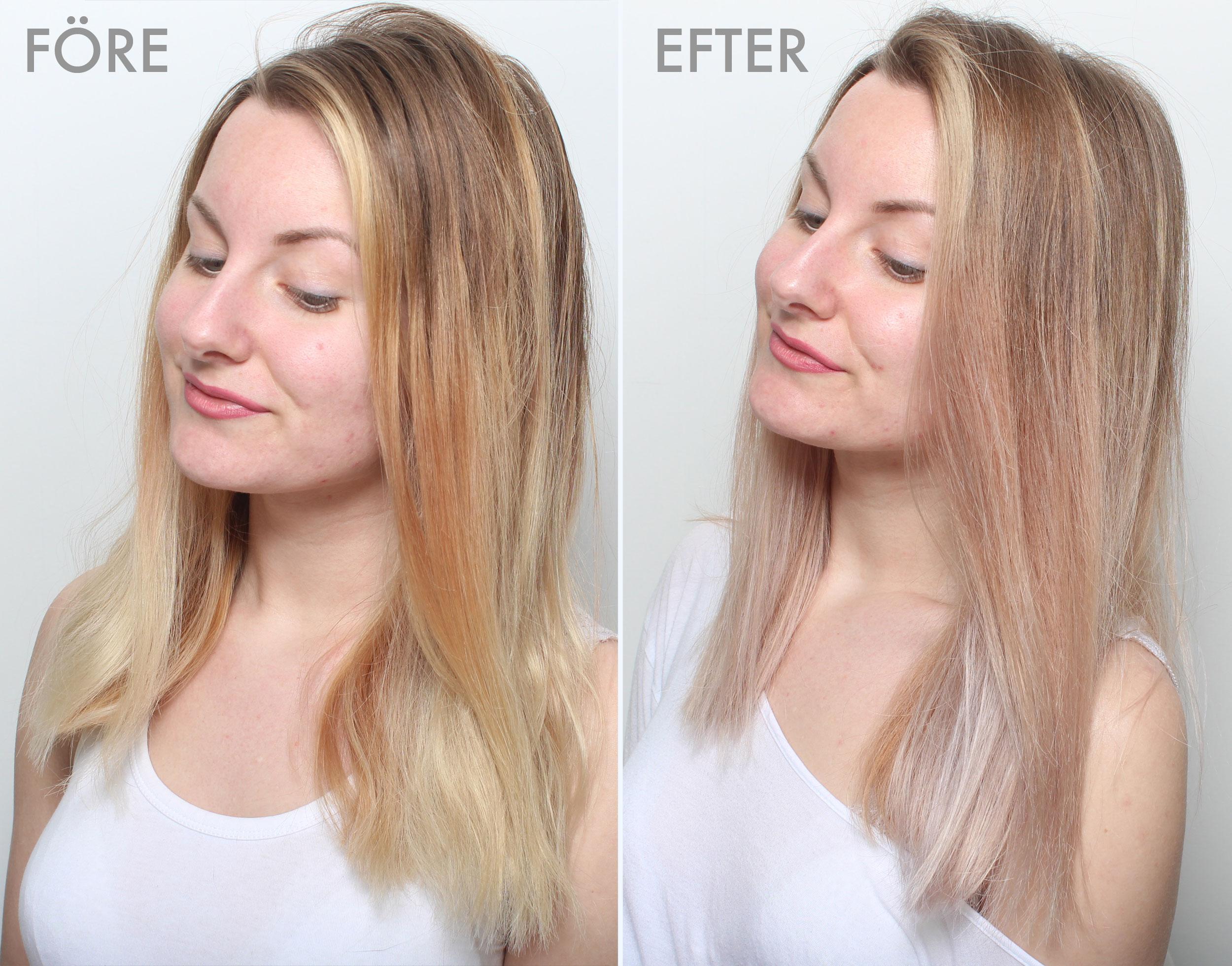få bort toning ur håret snabbt