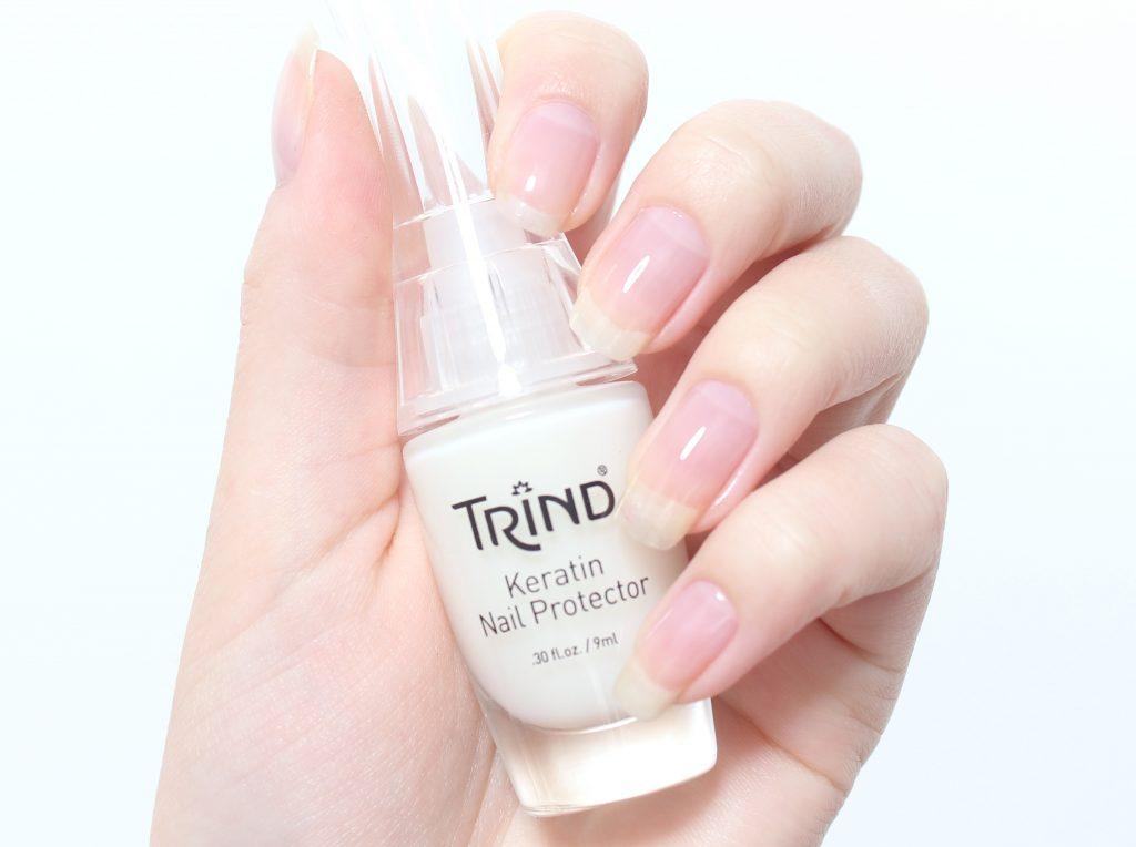 747bf27ffc0e Tillsammans med ovanstående balsam så rekommenderar Trind att man använder  nagellacket Keratin Nail Protector också. Jag tycker denna produkt är bra  om man ...