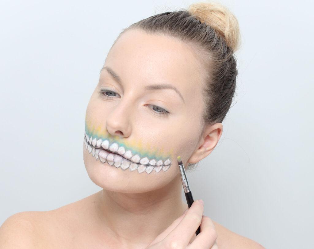 Step 4 Colorful Skull Makeup