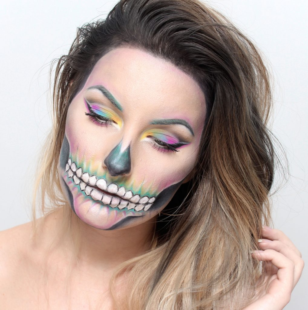 halloween special Colorful Skull Makeup