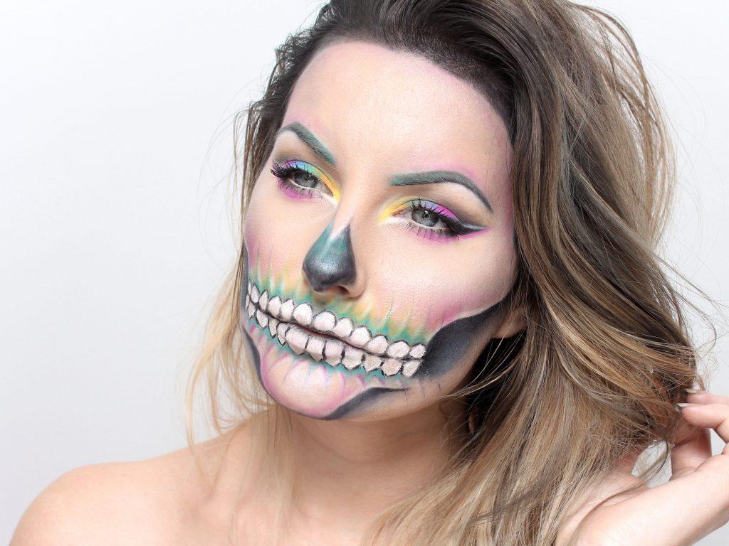 Colorful Skull Makeup
