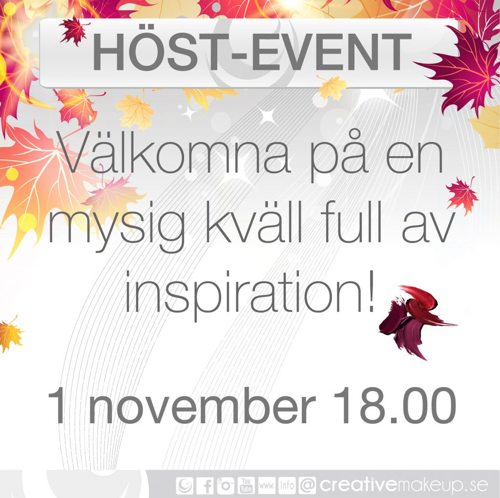 Höstevent på Creative Makeup | IMAKEYOUSMILE - Makeup inspiration ...