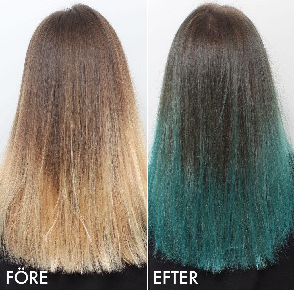 cabello turquesa antes después