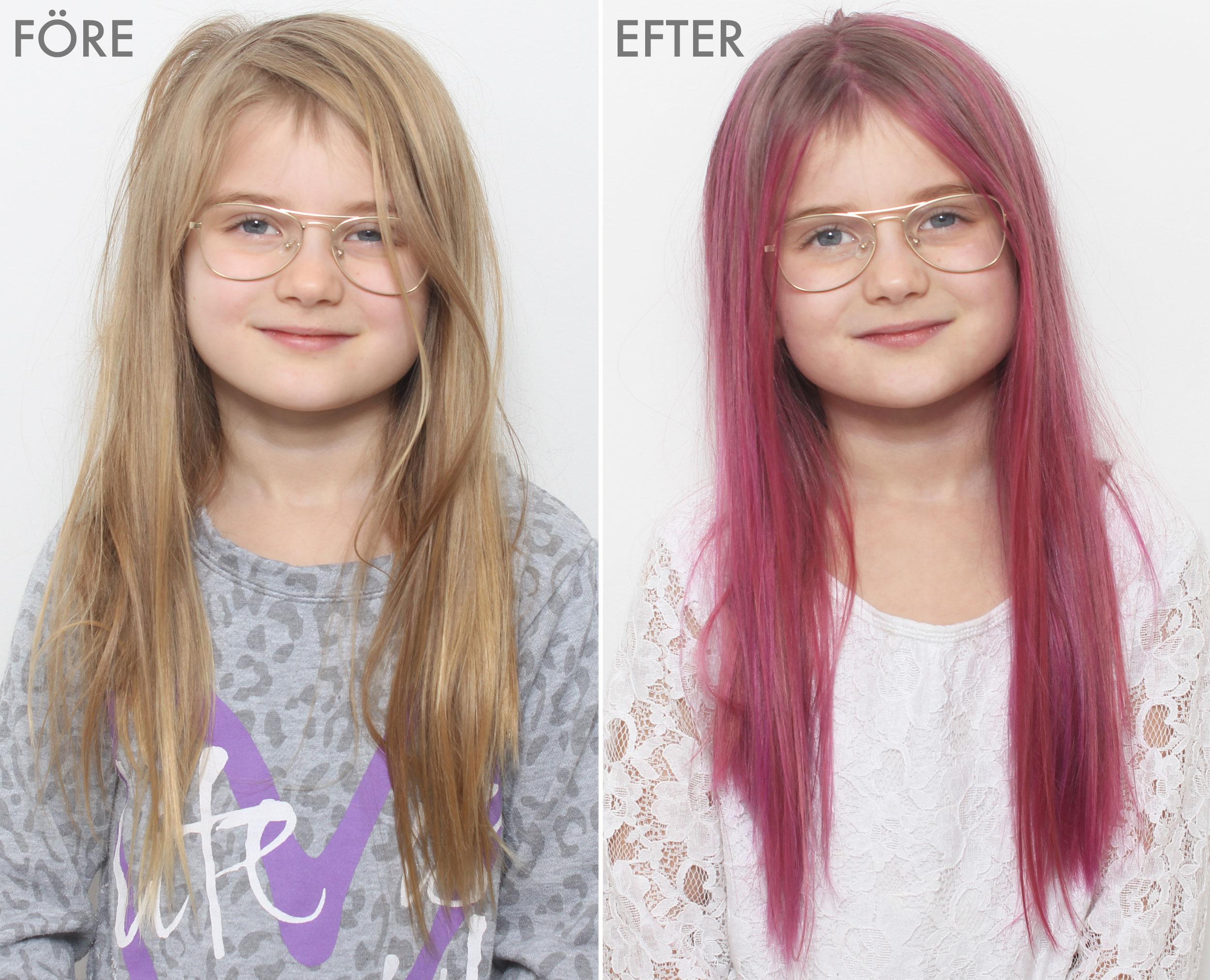 färga håret rosa utan att bleka