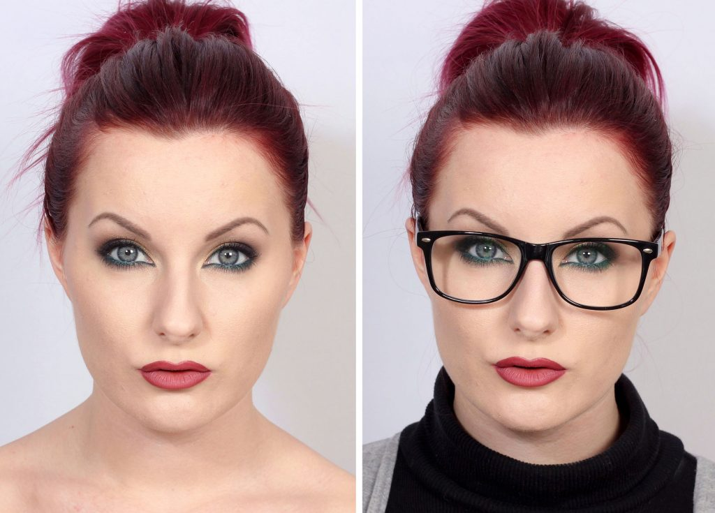 5 makeup tips for glasses before and after