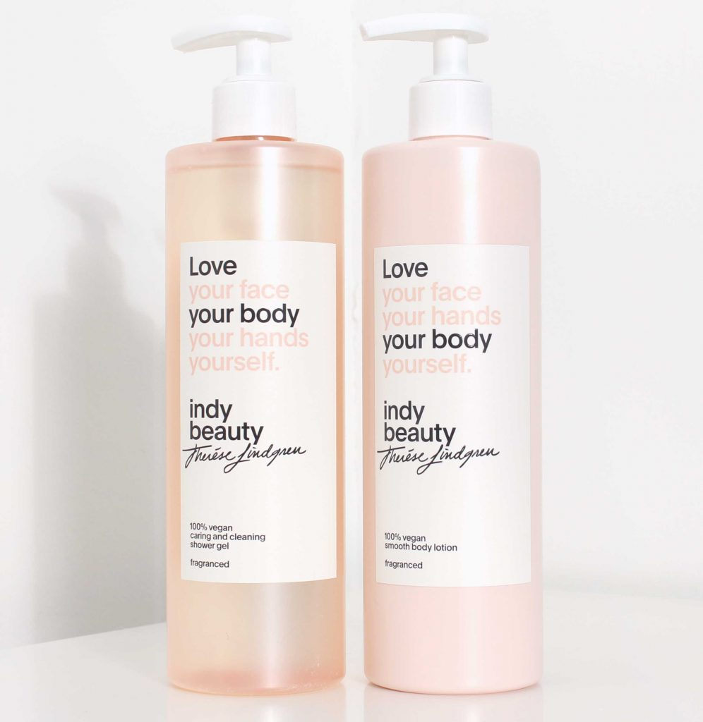 indy beauty shower gel body lotion recension