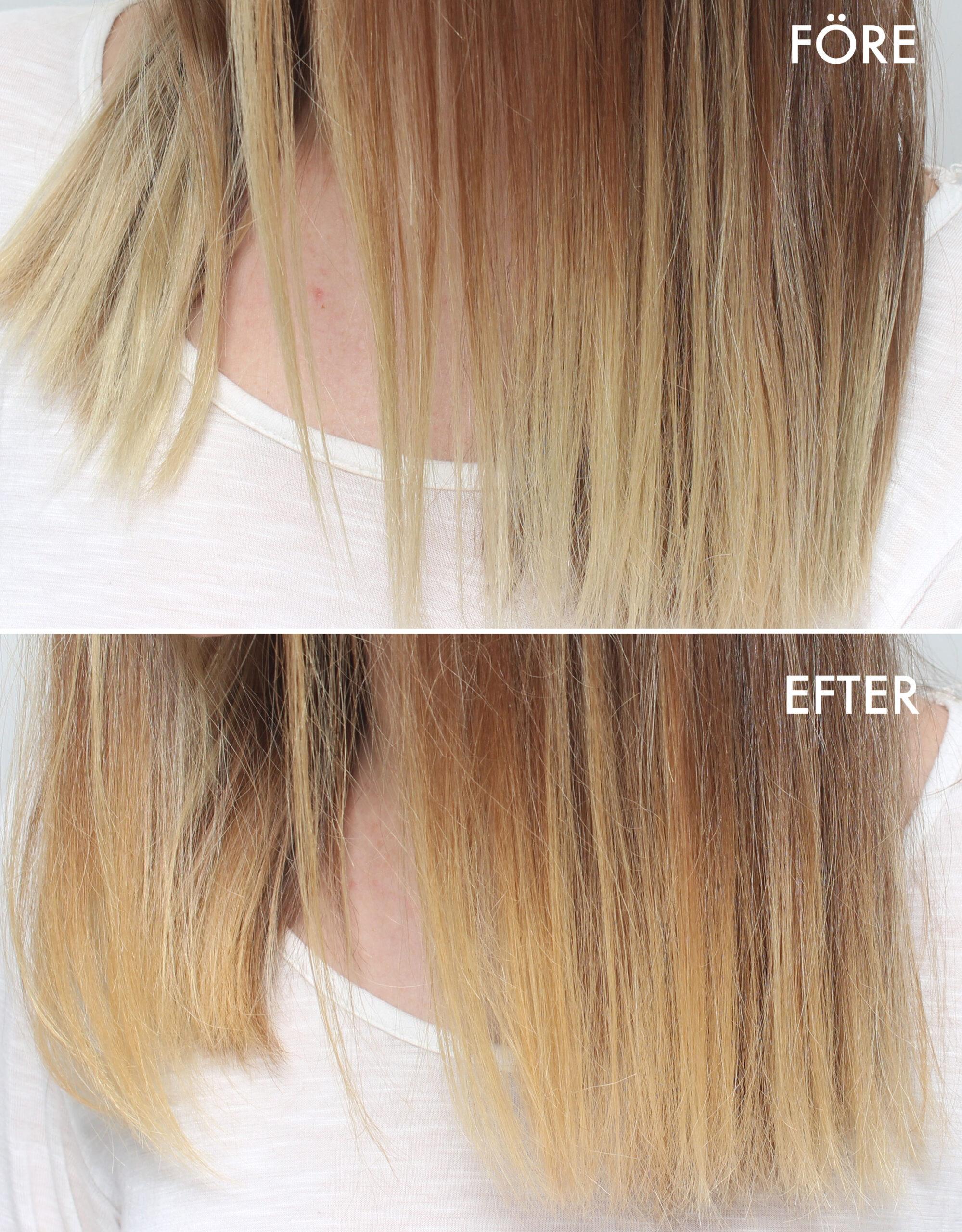 avfärgning före och efter
