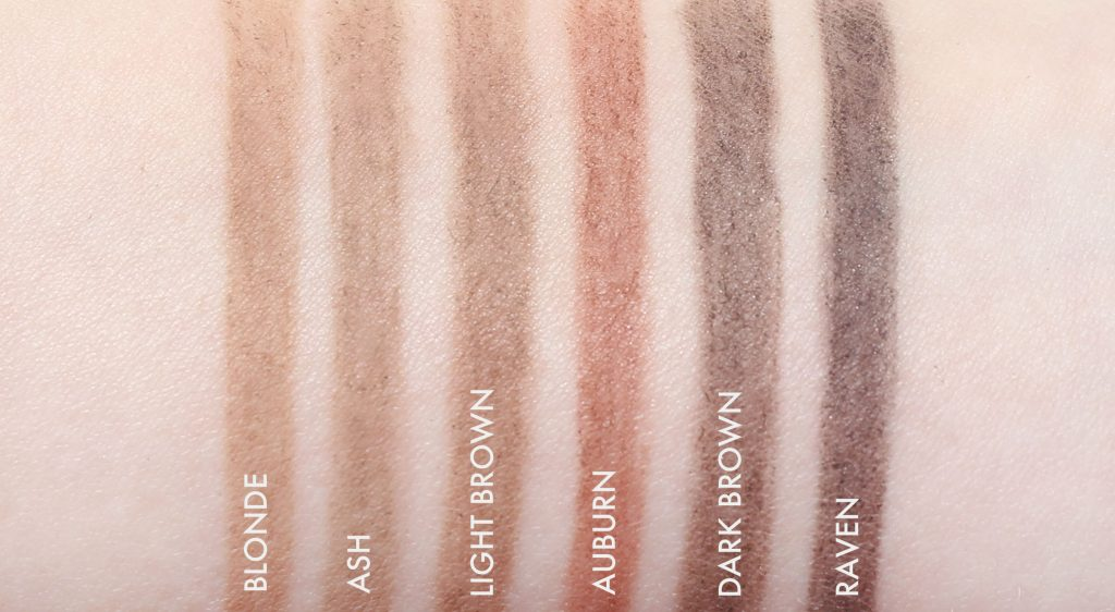 swatch glo skin beauty micro browliner
