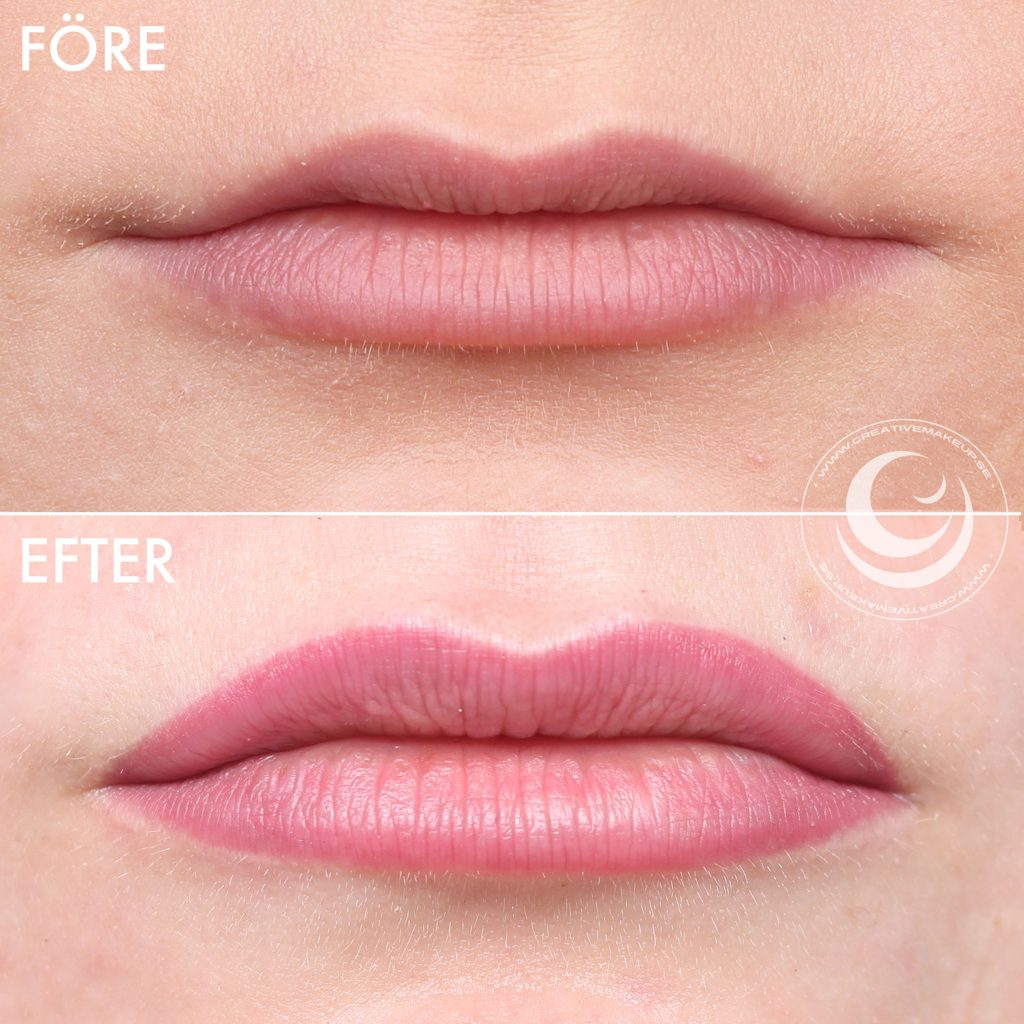 My lip tattoo - To tattoo the lips before and after