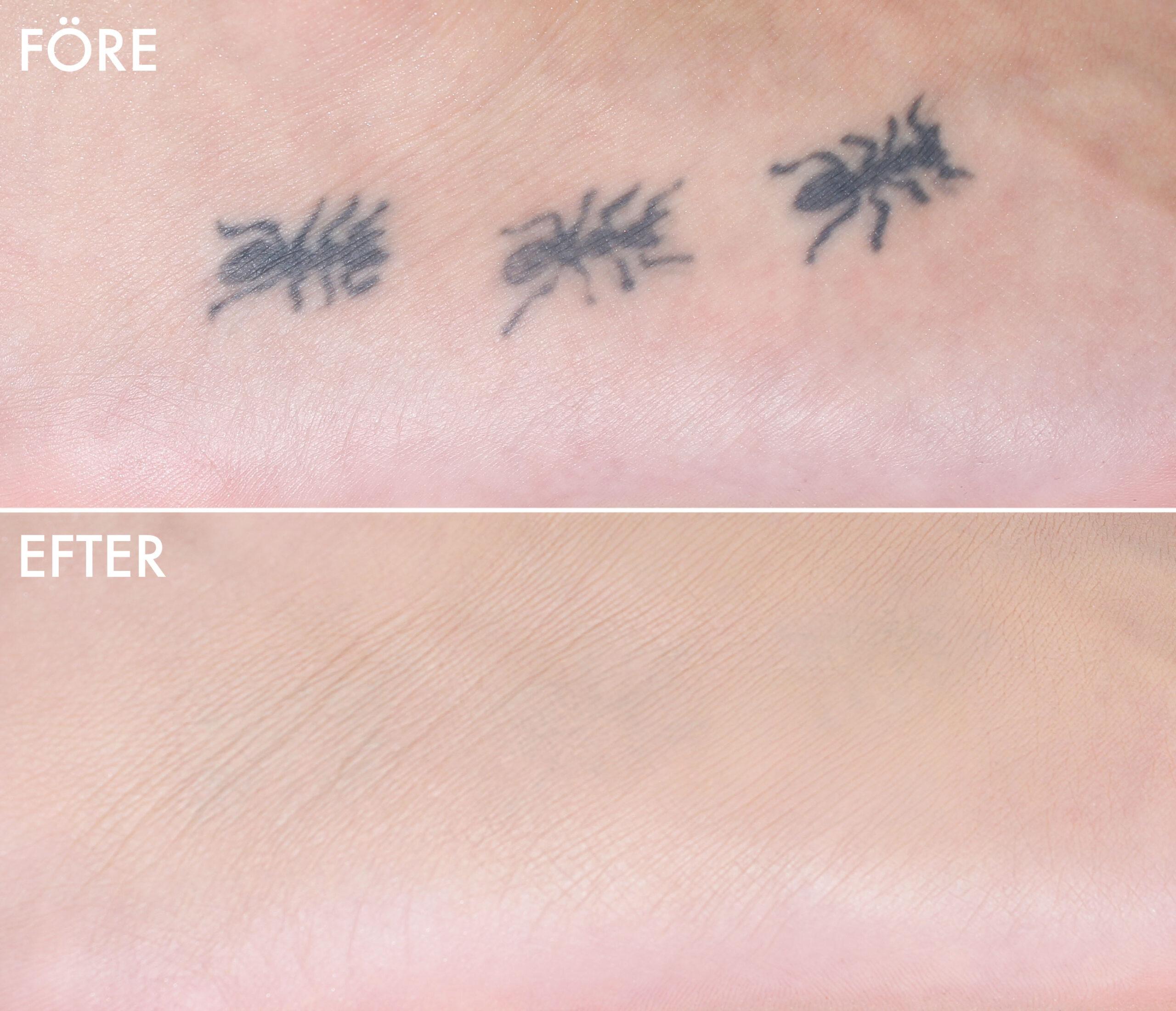 täcka tatuering smink