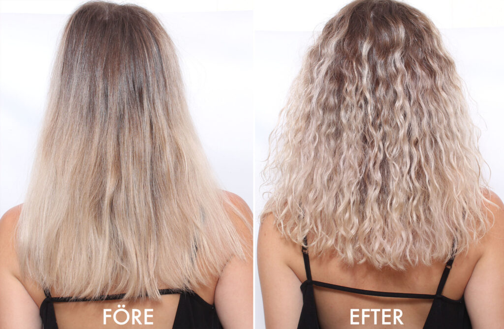 färga permanentat hår