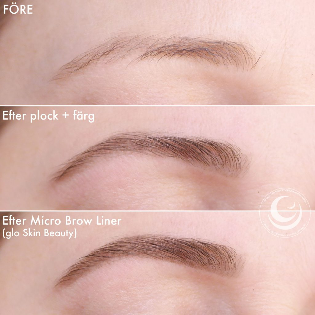 How to make the eyebrows symmetrical?
