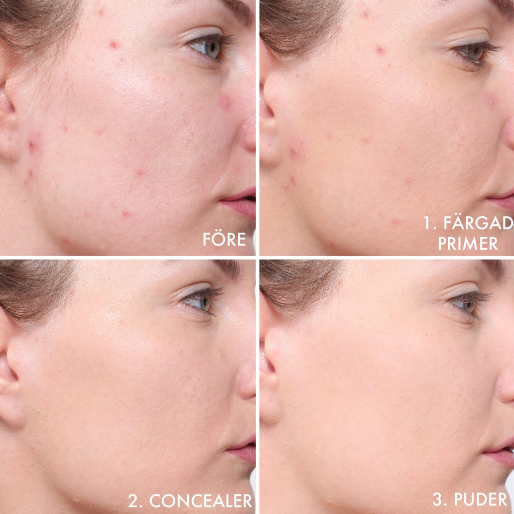 step by step make up pimples