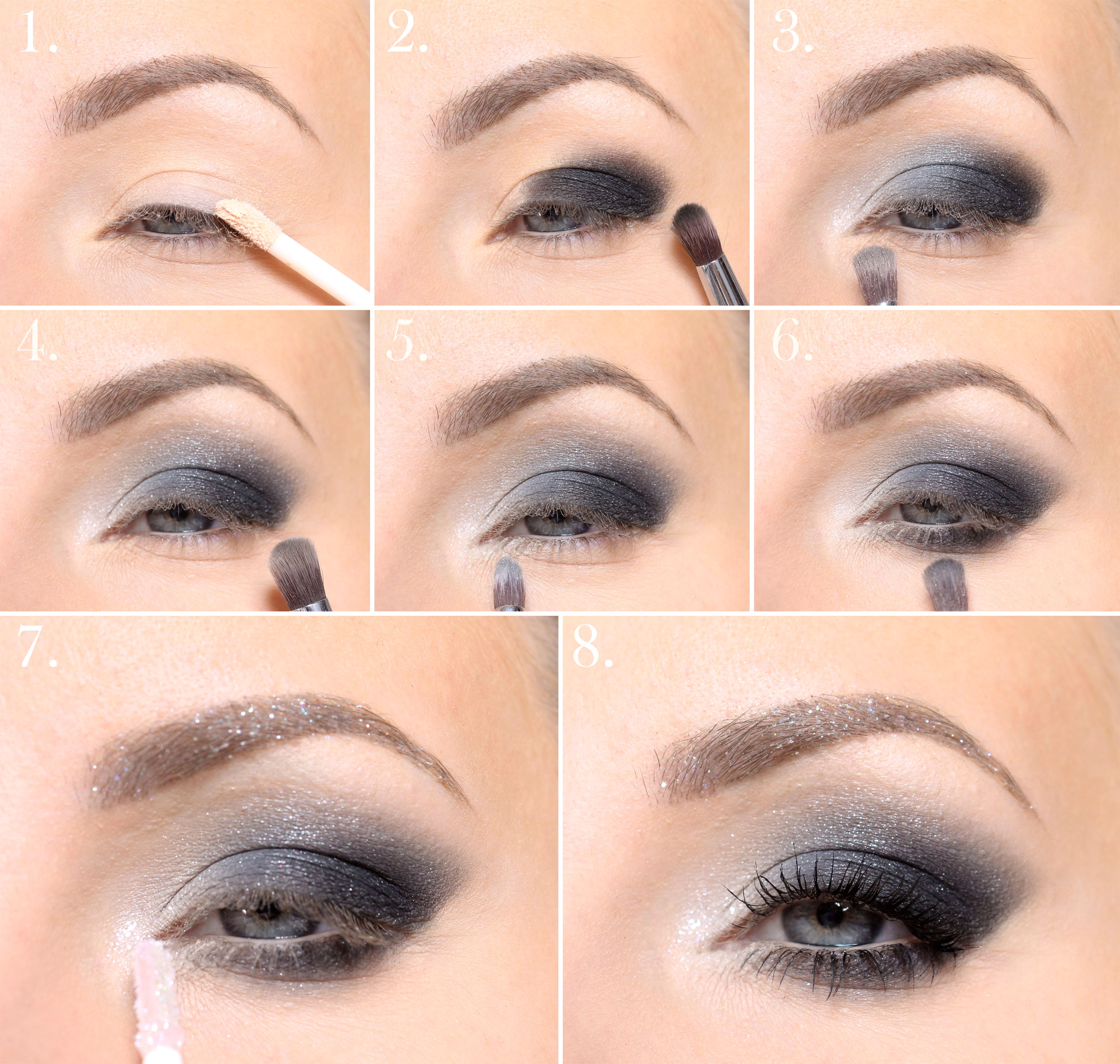 New Year's make-up step by step