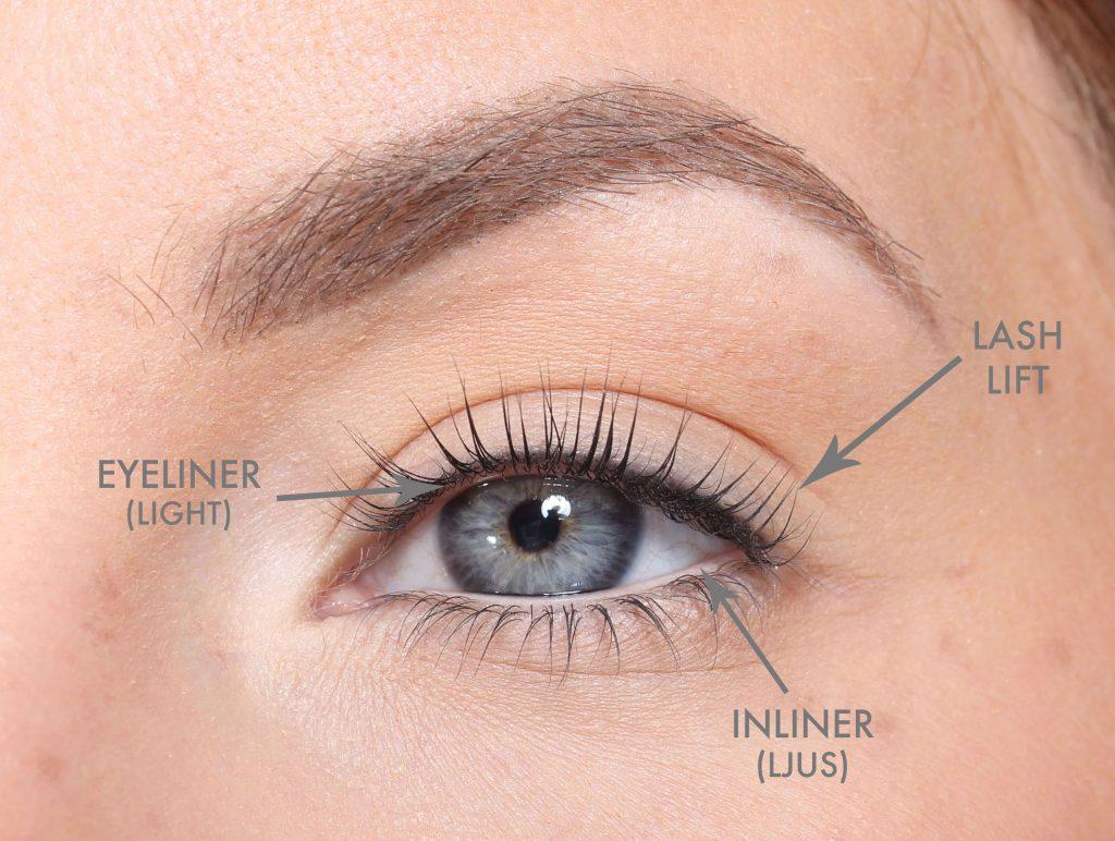 Tattooed eyeliner & light inliner + lash lift