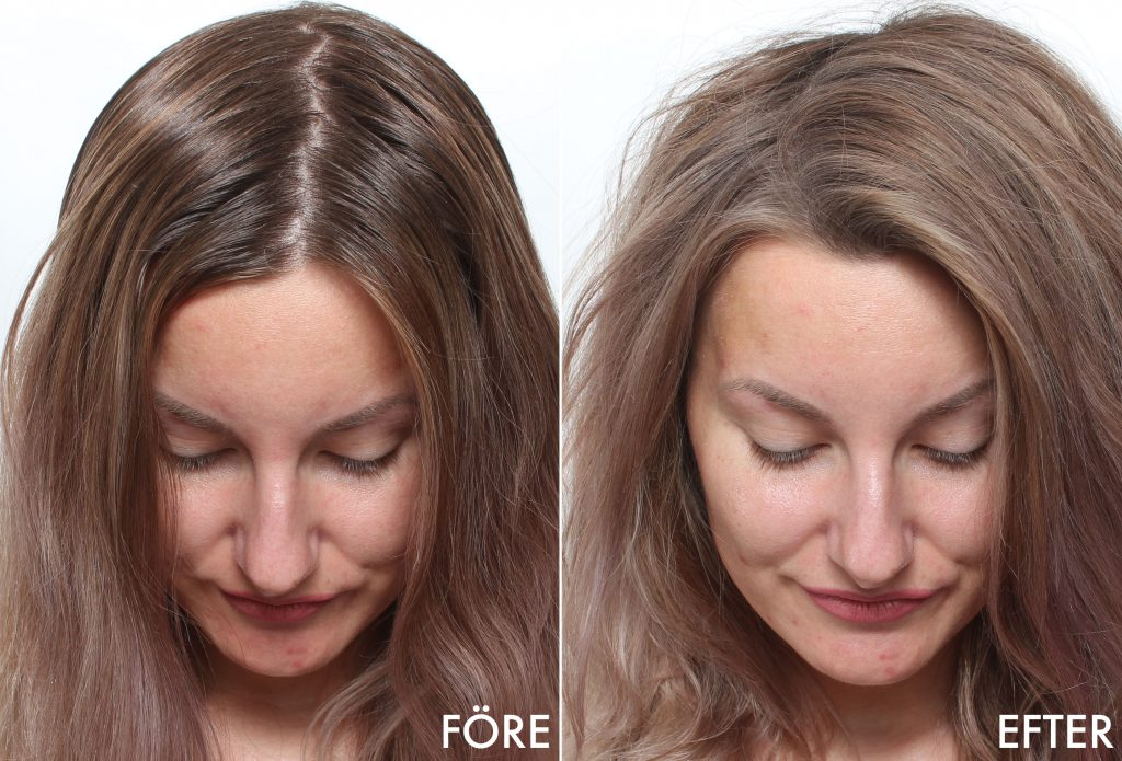 dry shampoo before and after