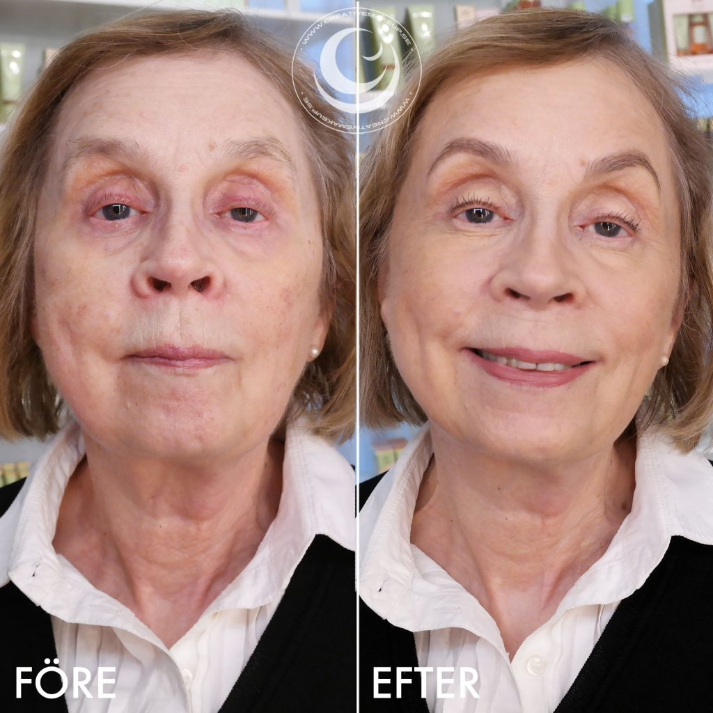Make up more vigorously - before & after